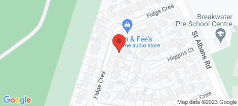 Location map for 13 Fidge Crescent Breakwater