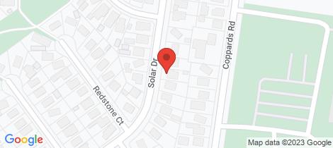 Location map for 141 Solar Drive Whittington