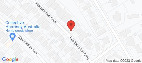 Location map for 31 Roehampton Crescent Mount Eliza