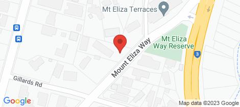 Location map for 8 MT ELIZA WAY Mount Eliza