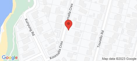 Location map for 8 Koornalla Crescent Mount Eliza