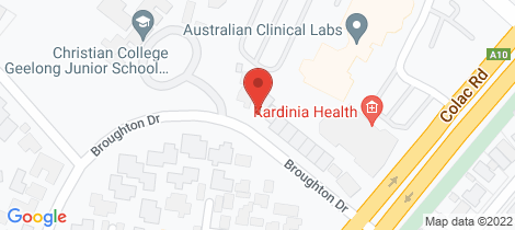 Location map for 55 Broughton Drive Highton