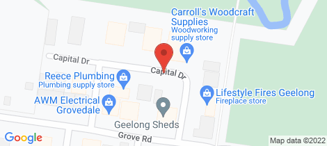 Location map for 7 Capital Drive Grovedale