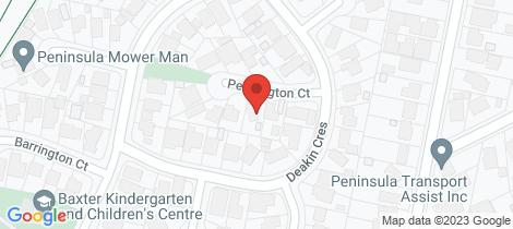 Location map for 3 Pennington Court Baxter
