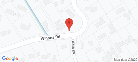 Location map for 75 Winona Road Mount Eliza