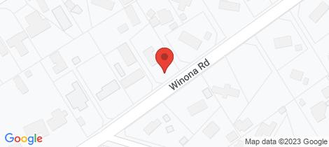 Location map for 35 Winona Road Mount Eliza