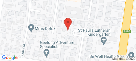 Location map for 5 Stratford Court Grovedale