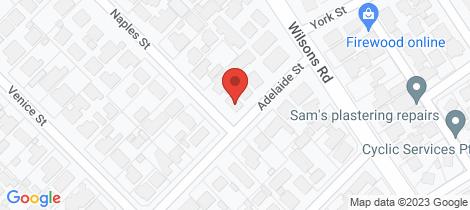 Location map for 29 Naples Street Mornington