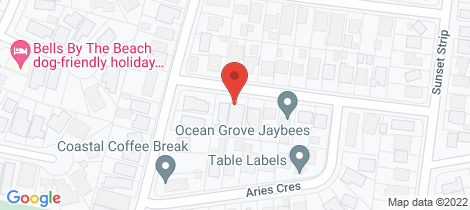 Location map for 6A Aquilae Street Ocean Grove