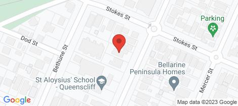 Location map for 28-30 Stevens Street Queenscliff