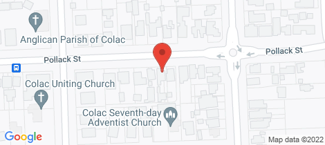 Location map for 52 Pollack Street Colac