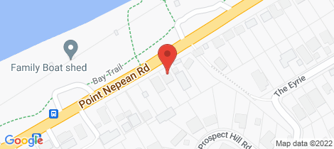 Location map for 595 Point Nepean Road Mccrae