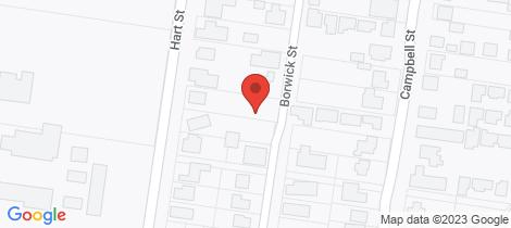 Location map for 25 Borwick Street Colac