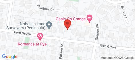 Location map for 46 Fern Grove Rye