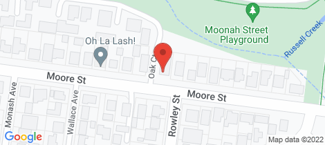 Location map for 2/180 Moore Street Warrnambool