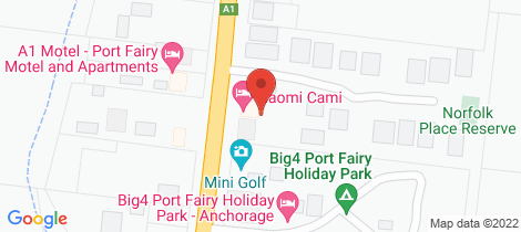 Location map for 123 Princes Highway Port Fairy