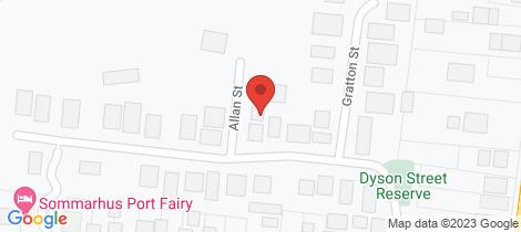 Location map for 16 Dyson Street Port Fairy