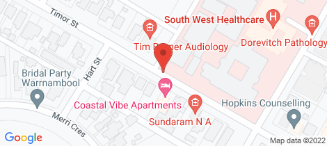 Location map for Unit 16/45 Timor Street Warrnambool