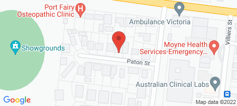 Location map for 6 Paton Street Port Fairy