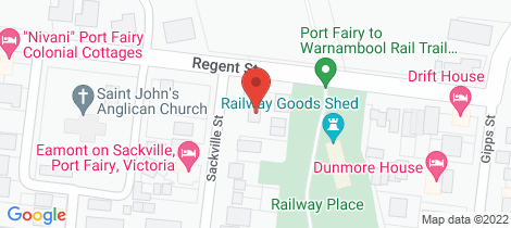 Location map for 17 Regent Street Port Fairy