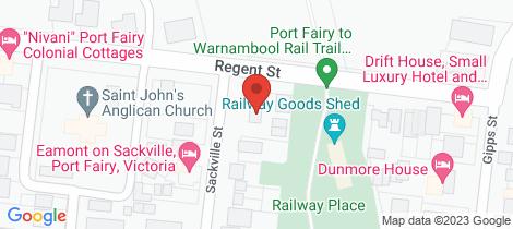 Location map for 17 Regent Street Port Fairy