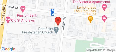 Location map for 36 William Street Port Fairy