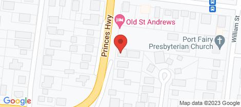 Location map for 27 Albert Street Port Fairy