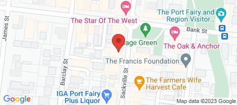 Location map for 64 Sackville Street Port Fairy