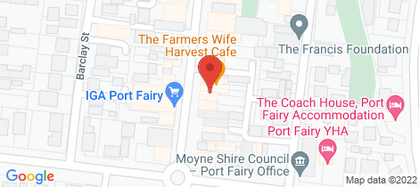 Location map for 43 Sackville Street Port Fairy
