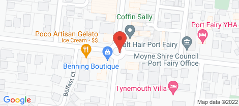 Location map for 1 A GIPPS STREET Port Fairy