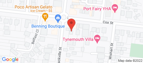Location map for 19 Sackville Street Port Fairy