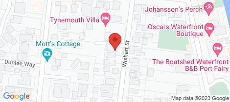 Location map for 14B Wishart Street Port Fairy