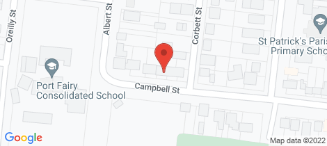 Location map for 76 Campbell Street Port Fairy