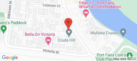 Location map for 16 Gipps Street Port Fairy