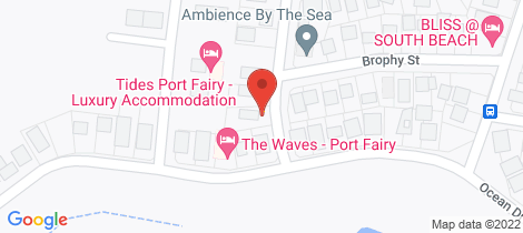 Location map for 1 Jehu Street Port Fairy