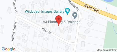 Location map for Lot 1a/1 Rees Street Kilcunda