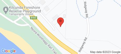 Location map for 3587 Bass Highway Kilcunda