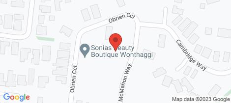 Location map for 6 McMahon Way Wonthaggi