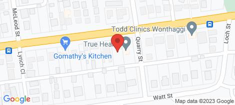 Location map for 25 Graham Street Wonthaggi