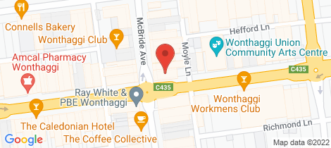 Location map for 108 Graham Street Wonthaggi