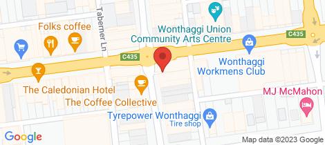 Location map for Lot 205 Powlett Ridge Estate Wonthaggi