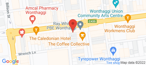 Location map for 113-115 Graham Street Wonthaggi