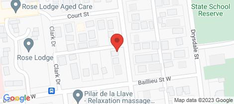 Location map for 6 Cameron Street Wonthaggi