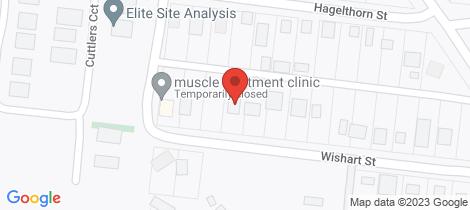 Location map for 50 Wishart Street Wonthaggi