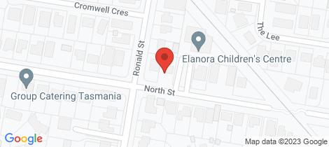 Location map for 66 North Street Devonport
