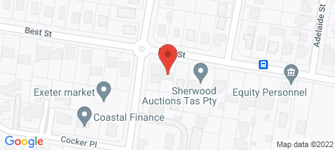Location map for 111 Best Street Devonport