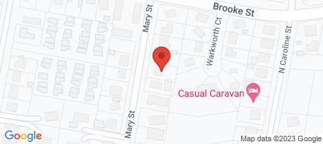 Location map for 25 Mary Street East Devonport