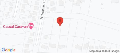 Location map for 55-59 North Caroline Street East Devonport