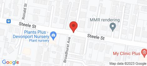 Location map for Shop 14 Hub Arcade Devonport