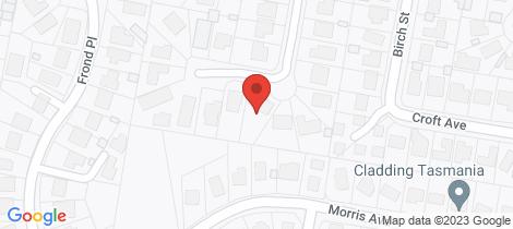 Location map for 13 Fordham Drive Devonport